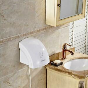 White Automatic Infared Sensor Hand Dryer Bathroom Hands Drying Device 1800 W