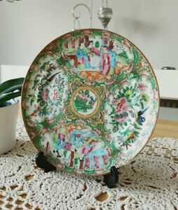 Antique 19c Chinese Export Famille Rose Plate Canton Region 8 25