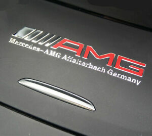 Amg Interior Emblem Aluminum Decal Sticker Badge For Mercedes Benz