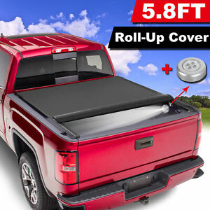 5 7 5 8ft Roll Up Tonneau Truck Bed Cover For 2009 2021 Dodge Ram 1500 Crew Cab