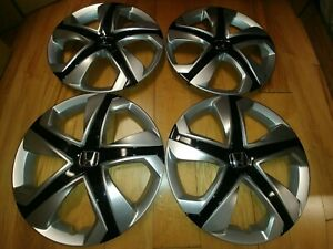 15 Nice Silver Black Hubcaps Wheelcovers 4 For Honda Civic For Honda Fit