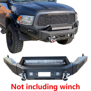 Ronghui Textured Dodge Front Bumper For 13 18 Dodge Ram 1500 With Winch Plate