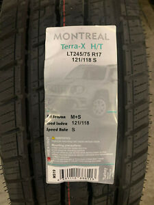 6 New Lt 245 75 17 Lre 10 Ply Montreal Terra x H t Tires