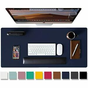 Leather Desk Pad Protector Mouse Pad Office Mat Non slip Pu Blotter Laptop X