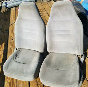 92 96 97 Ford Bronco F150 F250 Truck Front Bucket Jump Seats 40 20 40 Gray Grey