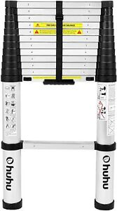 Ohuhu Aluminum Telescoping Ladder One button Retraction Extension Collapsible