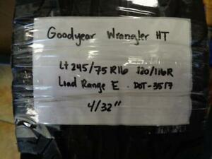 1 Used Goodyear Wrangler Ht 245 75 16 120 116r Lre Tire 4 32 Q0