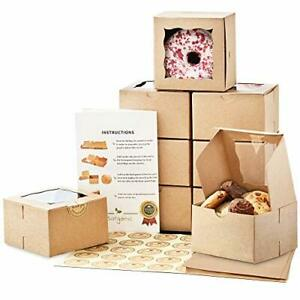 Premium 4x4x2 5 Inches Cookie Boxes With Window 50 Pack