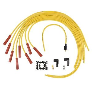 Accel 4040 Universal Super Stock Spark Plug Wire Set 8mm Yellow