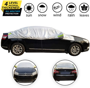 Omigao Windshield Snow Cover Half Car Cover Top Waterproof All Weather Windproo
