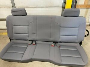 14 18 Chevy Silverado gmc Sierra Double ext Cab 2nd Row Gray Cloth Bench Seat