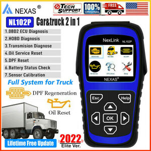 Truck Dpf Nexas Nl102 Plus Diesel Heavy Duty Dpf Oil Reset Diagnostic Scanner