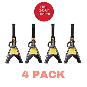 6000 Lb 3 Ton Jack Stands For Garage Car Truck Lift Tire Change Lifting 4 Pack