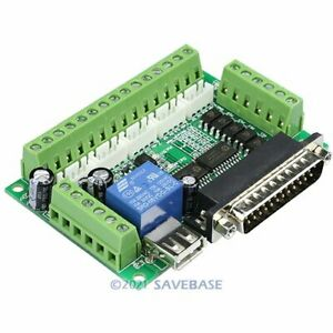 Upgrade 5 Axis Cnc Breakout Board For Microstepper Driver Controller Usb Cable