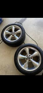 2 18 Mustang Bullitt Rims Tires Included
