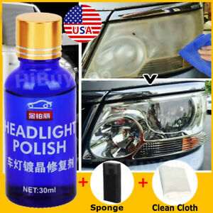 Car Ceramic Headlight Lens Restoration Repair Kit Polishing Cleaning Tools Kit