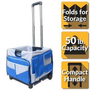 Pack n roll 18 In 0 drawer Foldable Utility Cart 48 pocket