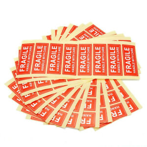 100 X Fragile Sticker 1 X 3 Fragile Handle With Care Stickers New