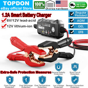 Automotive Smart Battery Charger Effective Maintainer Car Trickle Charger 6v 12v