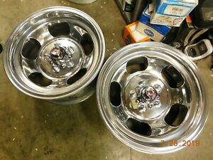 Just Polished 15x7 Slot Mag Wheels Ford Dodge Mags Mopar R T Mustang Torino Cuda