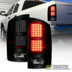 Black Smoke 2002 2006 Dodge Ram 1500 03 06 2500 3500 Led Tail Lights Brake Lamps