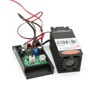 Focusable 2w 450nm 2000mw Blue Laser Module Ttl Outer Driver Engrave Cutter Usa