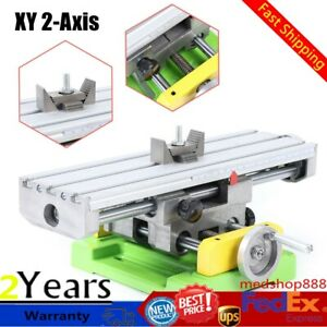 Milling Machine Compound Work Table Cross Slide Bench Xy 2 axis Drill Press Vise