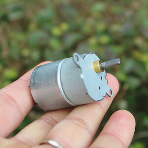 Dc6v 12v 42rpm Slow Speed Reducer Rf 310 Mini Metal Gearbox Gear Motor Robot Car