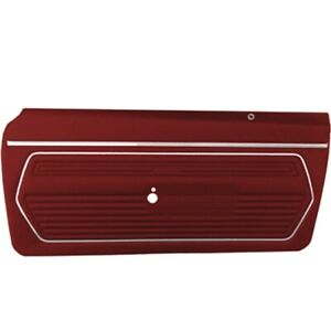 Pui Pd221 Front Door Panels For 1969 Camaro Red Pair