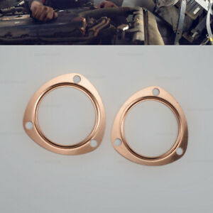 3 Copper Header Exhaust Collector Gaskets Reusable Fit For 302 350 454 Sbc Bbc