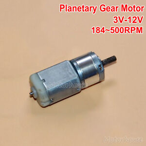 Dc 3v 12v 500rpm Large Torque 22mm Micro 280 Planetary Gearbox Gear Motor Robot