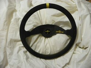 Personal 2 Spoke Steering Wheel Nr g Quick Release Rare Black Yellow