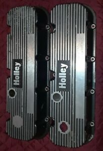 Vintage Holley Big Block Chevy Finned Valve Covers 140r 6b 454 396