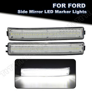 White Led Side Mirror Lights Reflector Turn Signal Lamp For 2009 2014 Ford F150