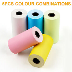 5 Rolls Color Thermal Printer Sticker Paper 2 1 4 For Peripage Paperang