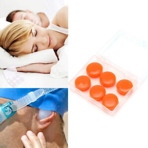 Soft Silicone Ear Plugs Comfortable Adjustable Sleeping Anti Snore Aid Moldable