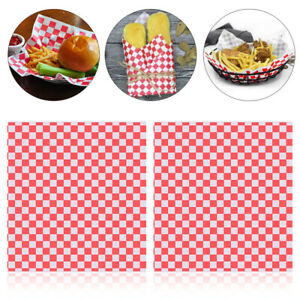 Ounona 100pcs Paper Food Wrapping Paper Sandwich Wrap Deli Basket Liner For Food