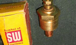 Nos Stewart Warner 6 V Temperature Sender Hot Rod Rat Rod