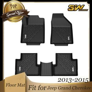 3w Liner Floor Mats For Jeep Grand Cherokee 2013 2015 Front Rear 2 Rows Black