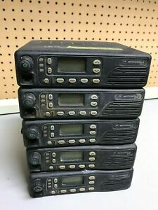 Lot Of 5 Motorola Gtx Trunking Mobile Radio M11ugd6cb1an Untested