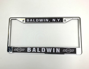 Baldwin Motion Chevrolet License Plate Frame Chevy Performance Dealer Bowties