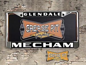Mecham Pontiac Glendale License Plate Frame Macho Trans Am Performance Dealer