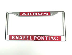 Knafel Pontiac Akron License Plate Frame Pontiac Performance Dealer