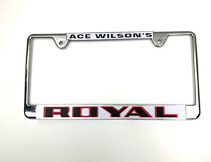 Royal Pontiac License Plate Frame Performance Dealer Gto Catalina Firebird 2 2