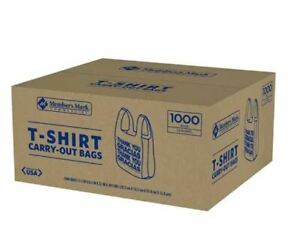 T shirt Thank You Plastic Grocery Store Shopping Carry Out Bag 1000ct Recyclable