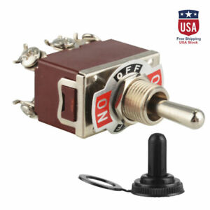 Heavy Duty 20a 125v Momentary Dpdt on off on Toggle Switch W waterproof Boot