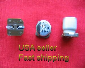 4pc 220uf 16v Smd Nichicon Electrolytic Free Shipping