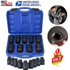 9pc Pro Axle Nut Impact Socket Set Front And Back Wheel Driver Socket Set Us