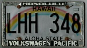 Rare Honolulu Hawaii volkswagen Pacific Vw Vintage Dealer License Plate Frame