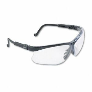 Uvex Genesis Safety Glasses Black Clear Lens Ultra dura Anti scratch s3200